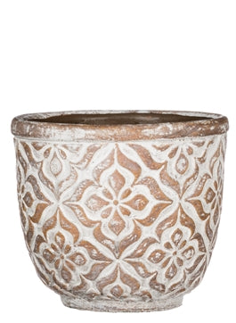 Patterned Round Pot SM