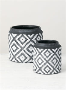 Aztec Pattern Flower Pot LG