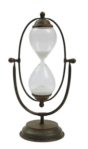 Metal & Glass Hourglass