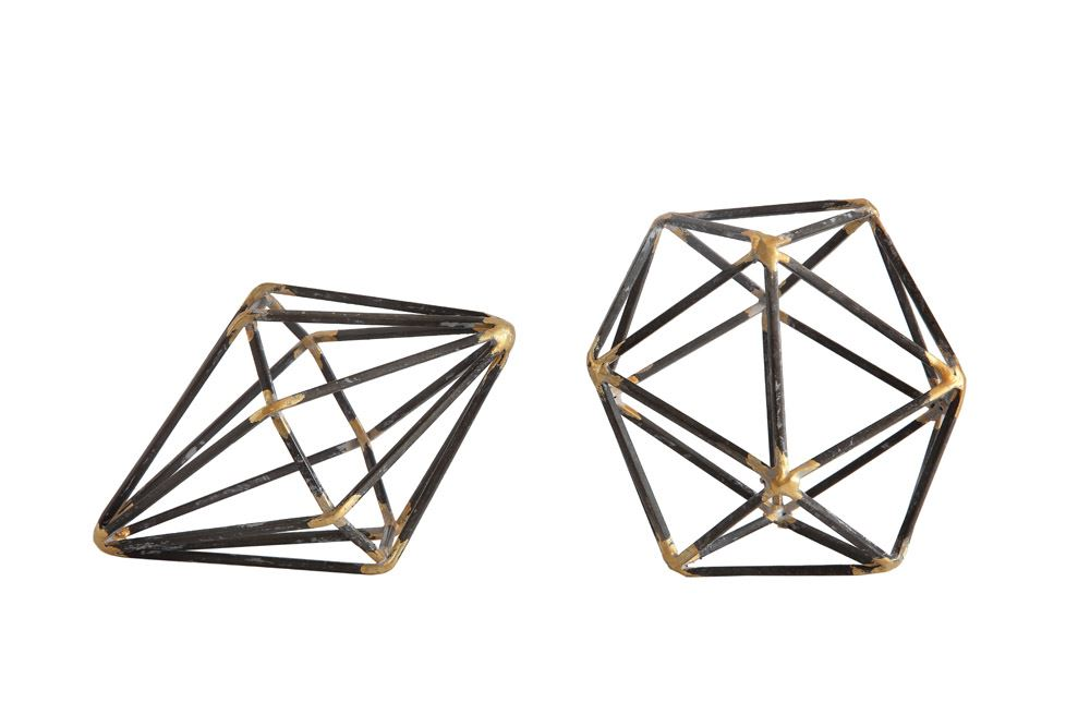 Metal Geometric Decoration - 2 Styles