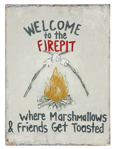 "15-3/4""H Welcome to the Campfire Tin Wall Decor"