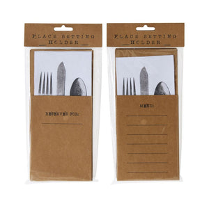 "8-1/2""H Kraft Paper Silverware Setting"
