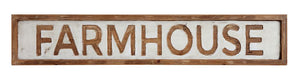 "39-3/4""L  X 7""H Farmhouse wood Frame Wall Decor"