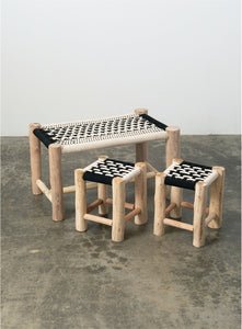 MACRAME BENCH Set 3 chair