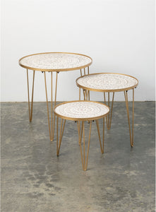 Gold Side Table SM