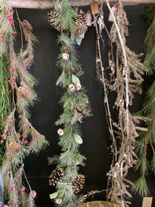 "White Wash Jingle Bell 72"" Garland"