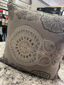 light grey pillow