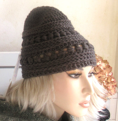 Donegal Tweed Yarn Bead Hat