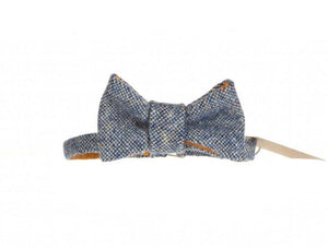 Blue Salt & Pepper Donegal Tweed Bow Tie Tweed Bow Ties Tweed.ie