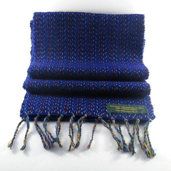 Handwoven Blue Donegal Tweed Scarf Tweed Scarf Tweed.ie