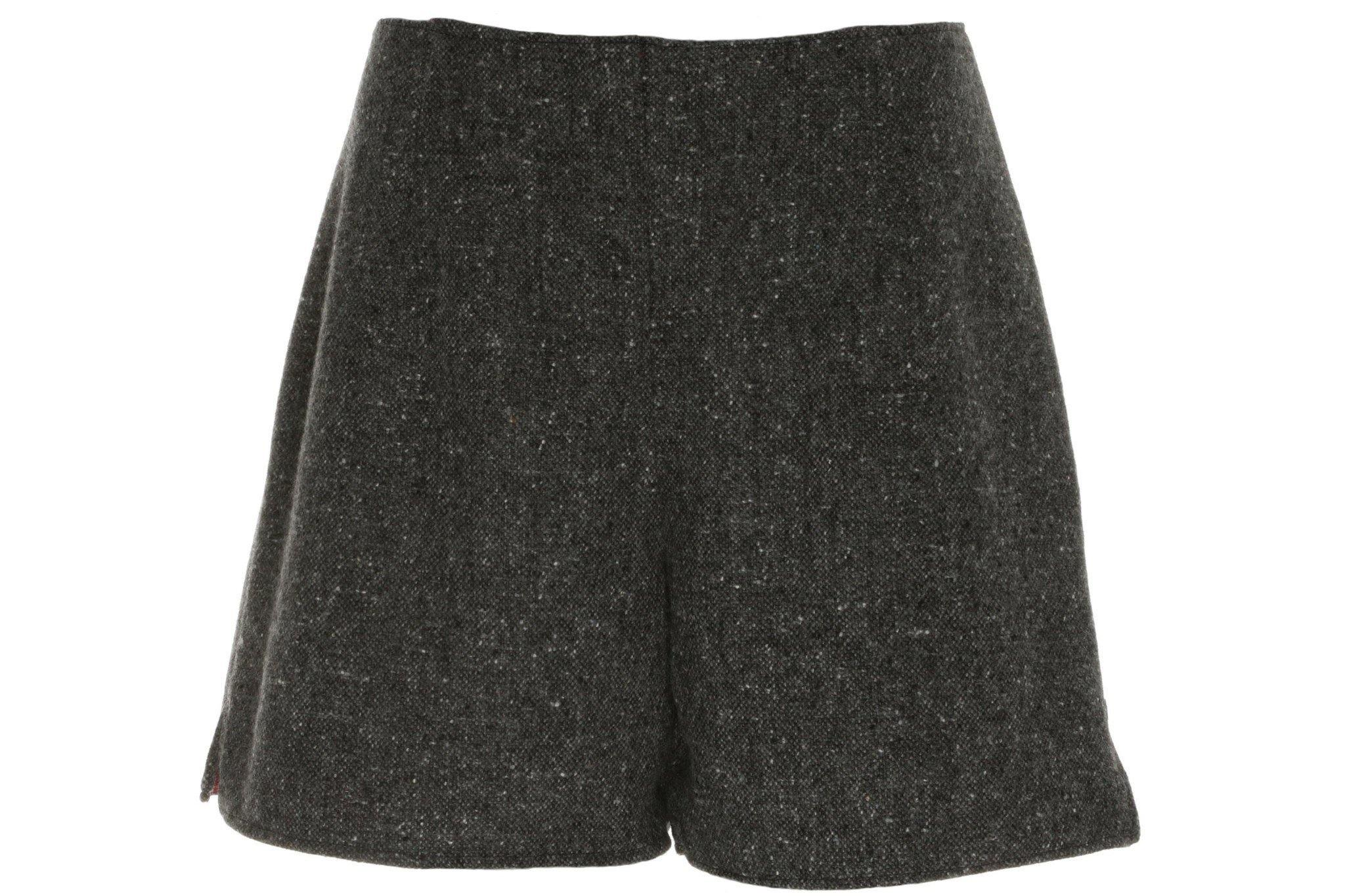 Donegal Tweed Shorts in Charcoal mohair/ merino tweed. Tweed Shorts Tweed.ie
