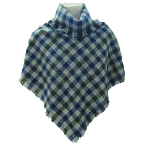 Hata Signature Check Donegal Tweed Poncho | Tweed.ie