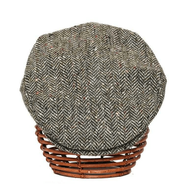 Donegal Tweed Green Herringbone Cap. Cap Tweed.ie Small