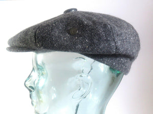 Charcoal Donegal Tweed Newsboy Cap Tweed Cap Tweed.ie Small