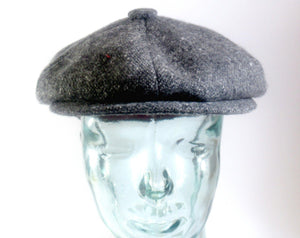 Charcoal Donegal Tweed Newsboy Cap Tweed Cap Tweed.ie