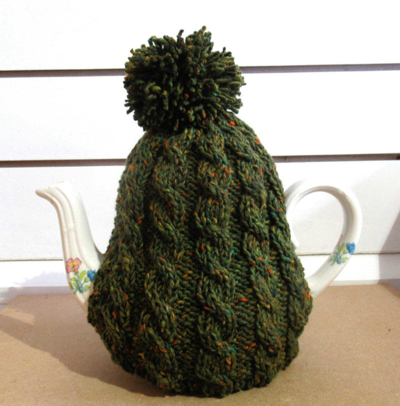Hand knitted Donegal yarn Tea Cosy Tea Cosy Tweed.ie
