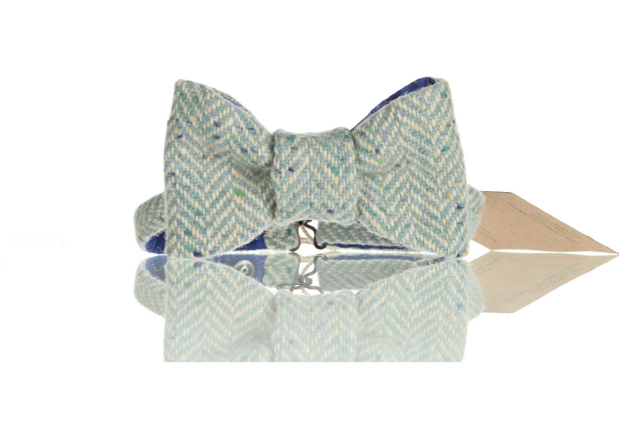 Herringbone Donegal Tweed Bow Tie Tweed Bow Ties Tweed.ie