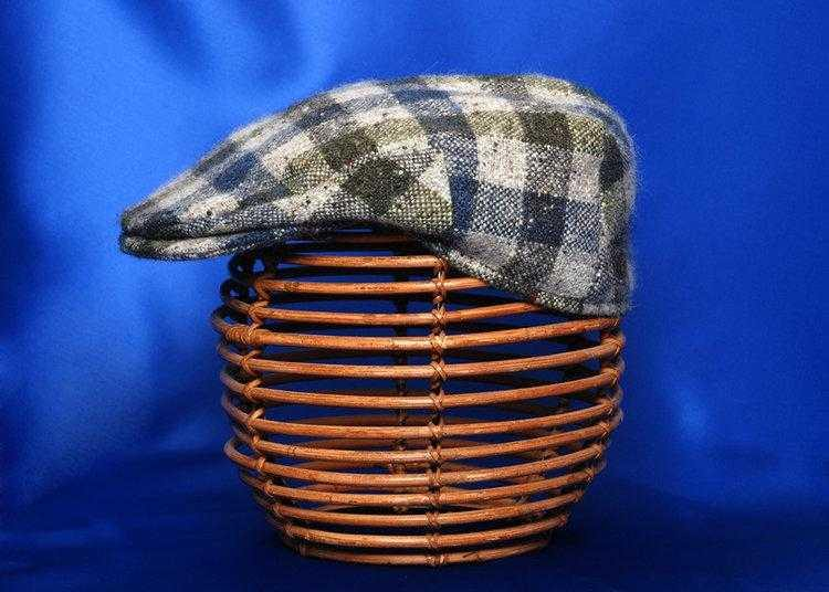 Hata Signature Check Vintage Donegal Tweed Cap | Tweed.ie