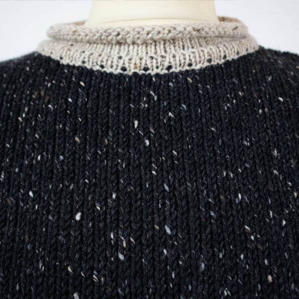 Roll Neck Fisherman Sweater - Tweed.ie