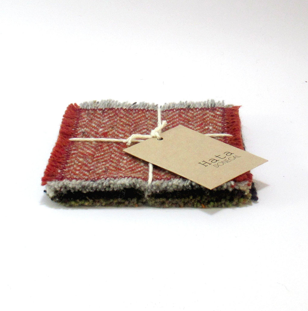 donegal tweed coasters, merno, mohair tweed.ie
