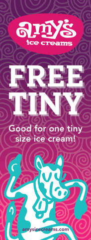 Amy's Ice Creams Gift Certificate - Free Tiny Ice Cream