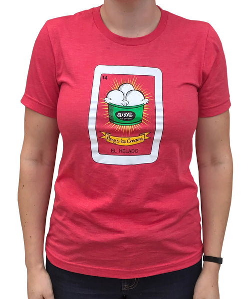 Amy's Ice Creams Loteria Red Women's T-Shirt