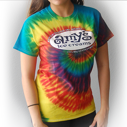 Amy's Ice Creams Keep Austin Weird Tie Dye T-Shirt