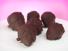 Double-Dark Chocolate Covered Strawberries Half Dozen (V)(6 ct)