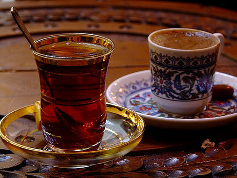 Turkish authentic Black Tea and Turkish Coffee