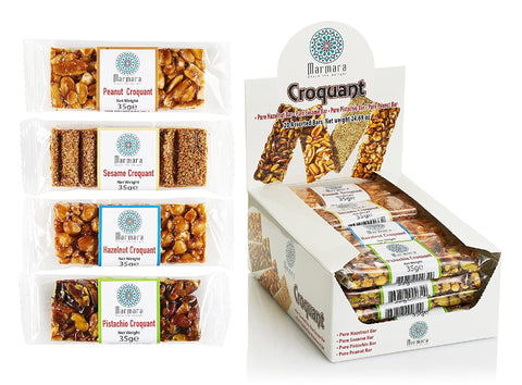 Croquant Healthy Nut Bars Variety Pack