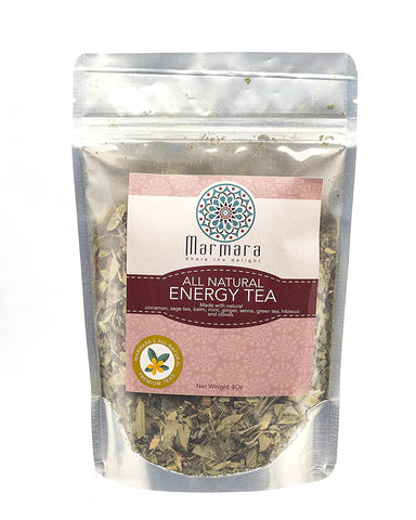 Energy Herbal All Natural Loose Flower Tea No Caffeine 4 Ounce