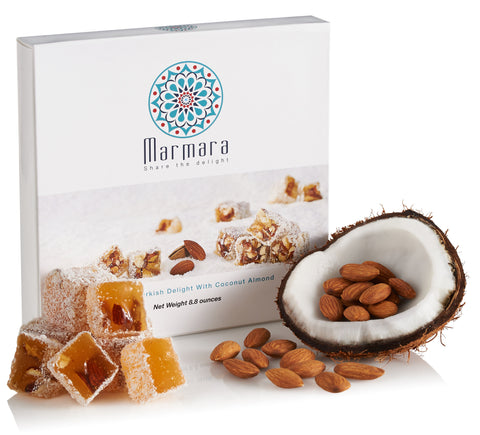Almond with Coconut Turkish Delights