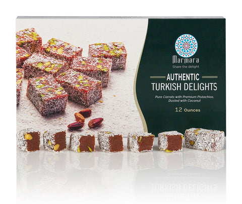 Authentic Carrot Cezerye Turkish Delights Candy Dessert 12 Oz
