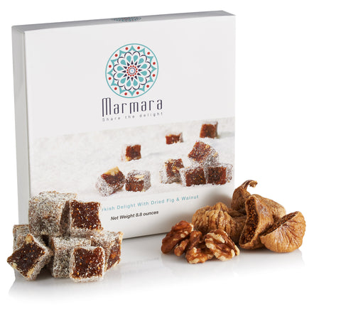 Sundried Fig with Walnut Turkish Delights