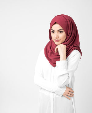"Apple Butter Brown Cotton Jersey Hijab-HIJABS-InEssence-Regular 27""x70""-MeHijabi.com"