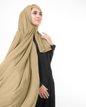 "Apple Cinnamon Brown Jersey Hijab-HIJABS-InEssence-Regular 27""x70""-MeHijabi.com"