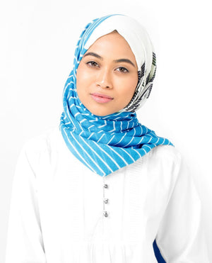 "River Blue and Lime Punch Hijab-HIJABS-InEssence-Maxi 40""x70""-MeHijabi.com"