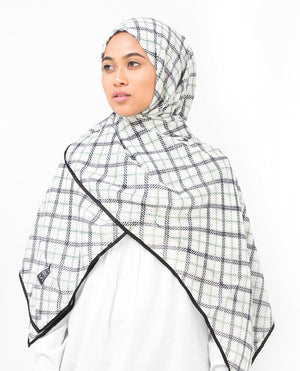 "Check Motif Viscose Hijab-HIJABS-Silk Route-Regular 27""x70""-MeHijabi.com"