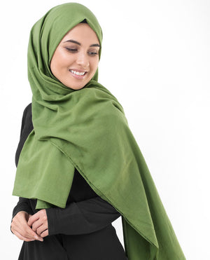 "Forest Green Cotton Voile Hijab-HIJABS-InEssence-Maxi 40""x70""-MeHijabi.com"