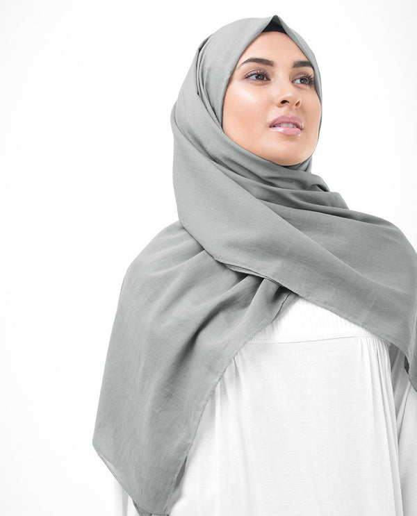 Steeple Grey Cotton Voile Hijab-HIJABS-InEssence-Medium-Steeple Grey-MeHijabi.com