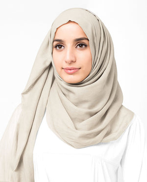 "Turtledove Cotton Voile Hijab-HIJABS-InEssence-Regular 27""x70""-MeHijabi.com"