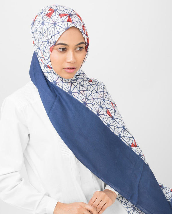 "Geo Delight Viscose Hijab-HIJABS-Route 01-Regular 27""x70""-MeHijabi.com"