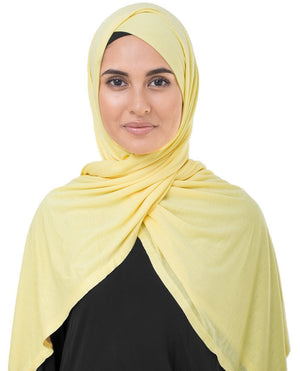 "Goldfinch Yellow Jersey Hijab-HIJABS-InEssence-Regular 27""x70""-MeHijabi.com"