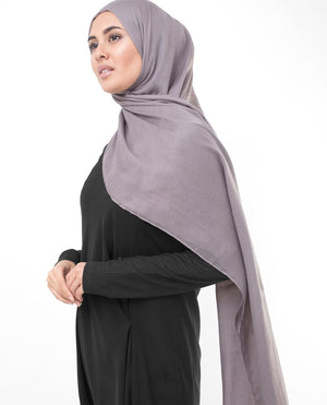 "Mauve Shadows Purple Viscose Woven Scarf-HIJABS-InEssence-Regular 27""x70""-MeHijabi.com"
