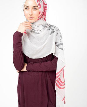 "Silver Grey Smoke Hijab-HIJABS-Route 01-Regular 27""x70""-MeHijabi.com"