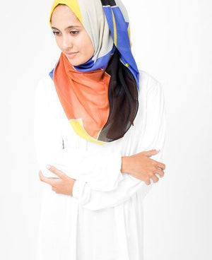 "Muti Color Hijab-HIJABS-Route 01-Regular 27""x70""-MeHijabi.com"
