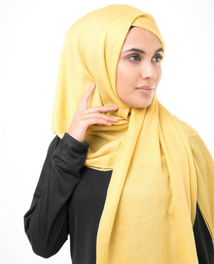 "Sunset Gold Viscose Woven Hijab-HIJABS-InEssence-Regular 27""x70""-MeHijabi.com"
