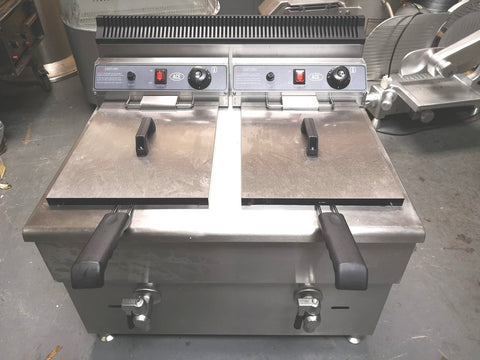 Table Top Twin Tank Gas Fryer