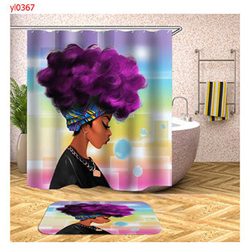 Art Design Polyester Bath Curtains Graffiti Art Hip Hop