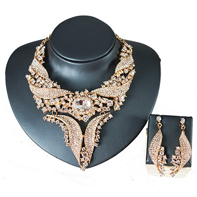 African engagement necklace and earrings set